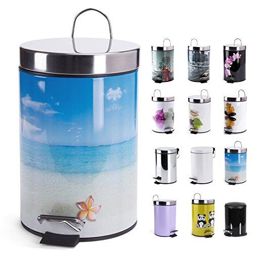 Treteimer Kosmetikeimer 3 Liter - verschiedene Designs (Paradise)