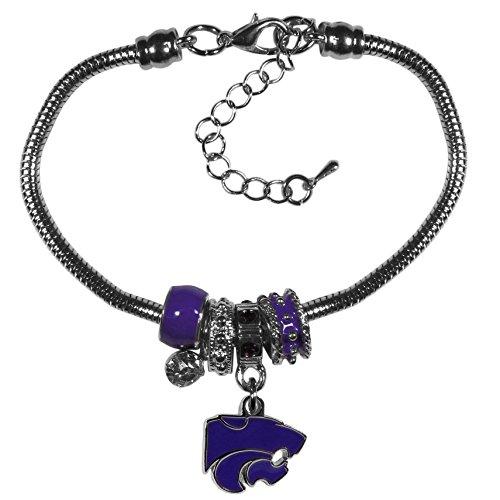 (Siskiyou NCAA Kansas State Wildcats Euro Bead Bracelet)