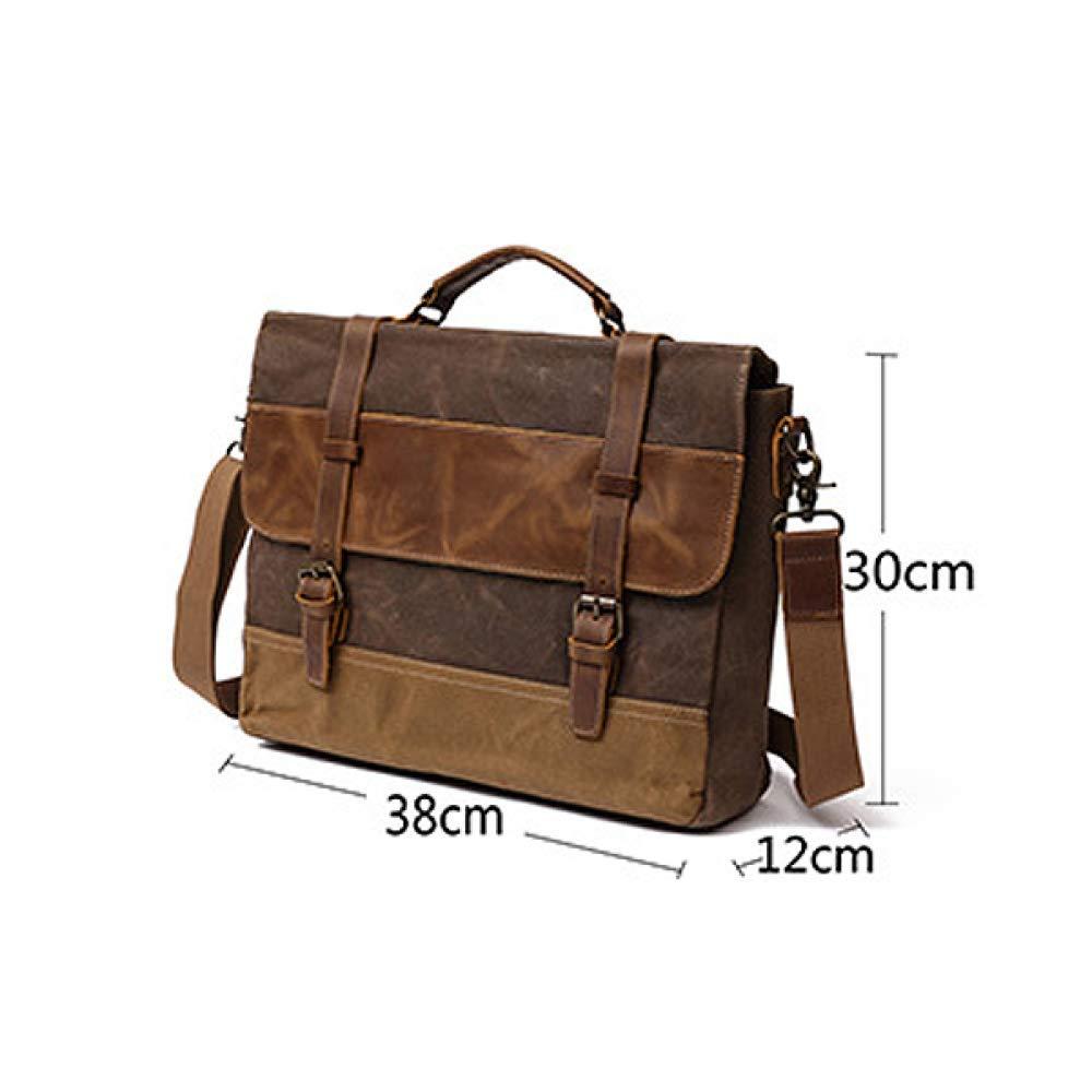 Retro herrväska oljevax kanvas väska portfölj Europa och Amerika axelväska handväska Rosröd