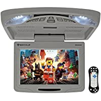 Rockville RVD12HD-GR 12 Grey Flip Down Car Monitor DVD/USB/SD Player + Games
