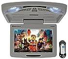 "Rockville RVD12HD-GR 12"" Grey Flip Down Car Monitor DVD/USB/SD Player + Games"