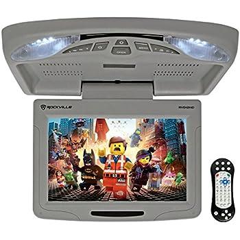 amazon com rockville rvd10hd gr flip down monitor dvd player hdmi rh amazon com