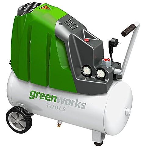 Greenworks Tools 4101807 Compresor De Aire De 24 L, 230 V, Verde: Amazon.es: Bricolaje y herramientas
