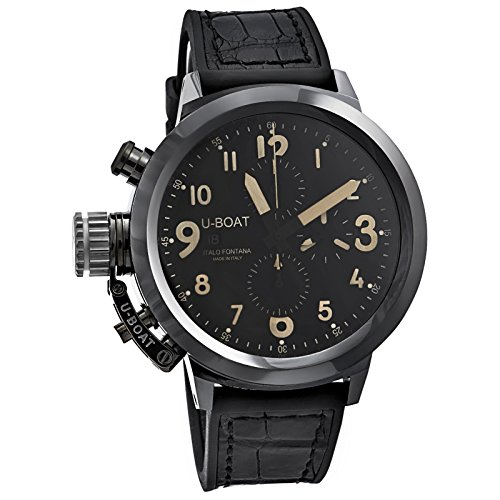 U-Boat Flightdeck Autom. Chrono Ref. 7387 50 mm Black Ceramic
