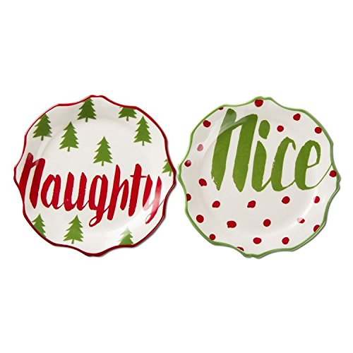 TAG - Naughty & Nice Appatizer Plates (Set of 2)