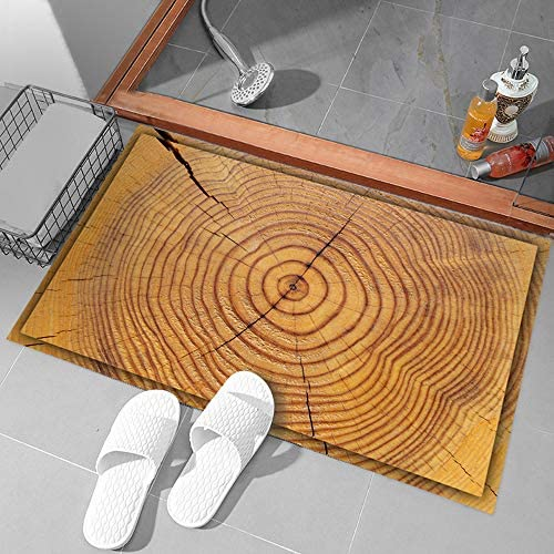Christmas Doormats,Hunpta 1PC 90x60cm/60X40cm 3D Wood Grain Bath Mat Waterproof Non-Slip Bedroom Door Mat Simulation Mat (60X40cm)