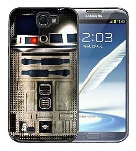 Pink Ladoo? Samsung Galaxy Note 2 Black Case - Star Wars R2D2 Metallic Metal Style Cool