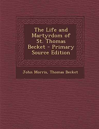 an introduction to the life of thomas becket Buy thomas becket new edition by frank barlow the book is also clear about thomas becket's life as an introduction to becket this text is good.