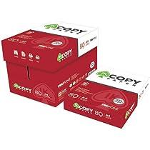 Caja Folios A4 Blancos para Impresoras Copy Paper paquete de 500 hojas (5): Amazon.es: Oficina y papelería
