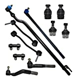 Detroit Axle - New Front 12-Piece Complete Front Suspension Kit - 10 Year Warranty - All (4) Ball Joints, (2) Sway Bars, (4) Tie Rods (2) Adjustment Sleeves - 4x4 Trucks...