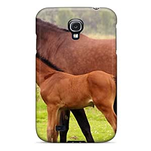 Fashion CyPayCU6249xxTAD Case Cover For Galaxy S4(animals Horses Horse And Foal)