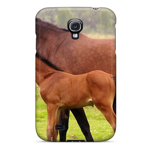 Durable Protection Case Cover For Galaxy S4(animals Horses Horse And Foal) ()