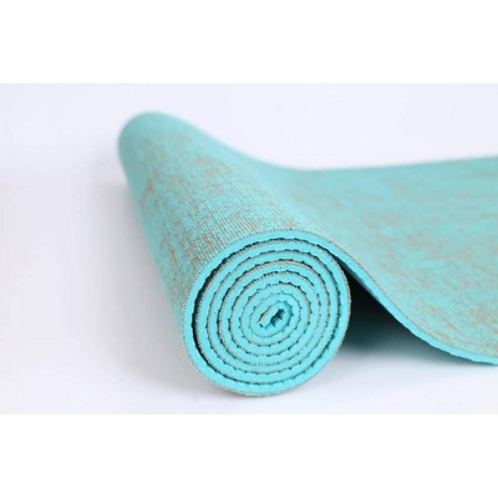 Light vert wyj521 Tapis de Fitness Tapis de Yoga pour Tapis de Yoga Tapis de Yoga en Lin Vert Caoutchouc Anti-dérapant 183Cm  61Cm  5Mm Tapis de Yoga pour