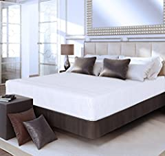 Olee Sleep 10 inch mattress is designed to satisfy the need for contoured support of your vertebrae while you sleep. We owe this luxury to the tempered steel independently-encased coils whose particularity is to conform to the curves of your ...