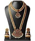 Traditional Ethnic One Gram Matt Gold Plated Designer Bangle Set for Women & Girls by Manav Company