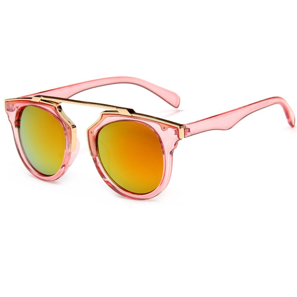 HUAYI Women's Trend Glasses Retro Style Color Mirror Sunglasses