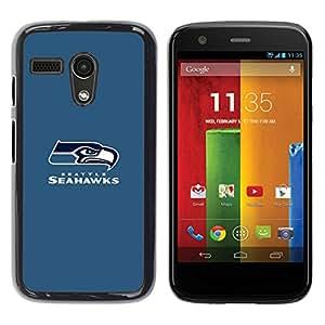 Seahawk Caja protectora de pl¨¢stico duro Dise?ado King Case For Motorola Moto G 1 1ST Gen
