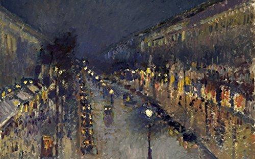 - Camille Pissarro Boulevard Montmartre at Night Circa 1897 : Art Print