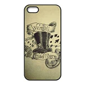Cheshire cat Alice's Adventure in Wonderland Classic Cartoon DIY Fashion Customized Rubber Back Case for iPhone 5 5S