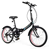 Best Foldable Bikes - Goplus 20'' Folding Bike, 7 Speed Shimano Gears Review