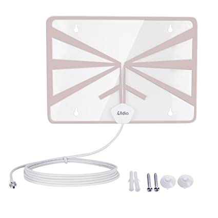 HDTV Antenna 50 Mile Range Indoor, Alldio Detachable Amplifier Signal Booster