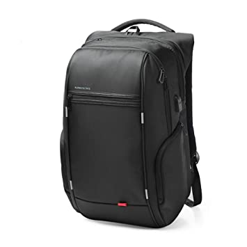 Kingsons Mochila con USB Puerto de Carga Business Laptop Backpack para Hombres y Mujeres Anti - Theft Waterproof Backpack ks3140w,Black,13 Pulgadas/a: ...