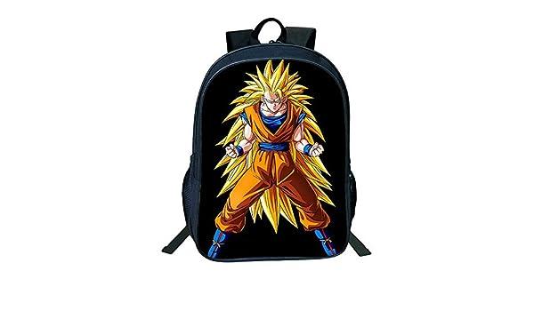 Dragon Ball Anime Goku Mochila de Caricatura, Mochila para ...