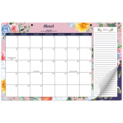 ZICOTO 2020 Floral Desk Calendar 17