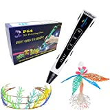 Sandipen 3D Pen, New Arrivals 3D Printing Pen Multi Filament 3D Printer Pen New Arrivals 3D Drawing Pen 3D Printing 3D Pen with Whole Set Gift Package (White)