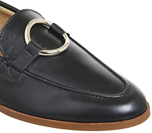 Office Flavia Ring Detail Loafers Black Leather GeqSXuv