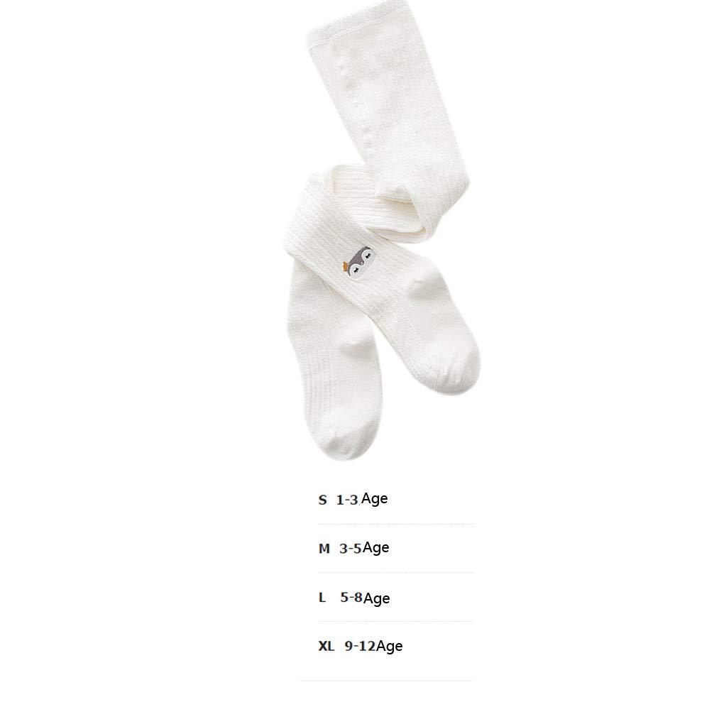 Lorjoyx Kids Girl Autumn Winter Cartoon Embroidery Pantyhose Cotton Cable Knit Tights Leggings Stocking Pants Socks