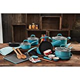 Pioneer Woman 27 pc. Limited Edition Vintage Speckle Turquoise Cookware Set