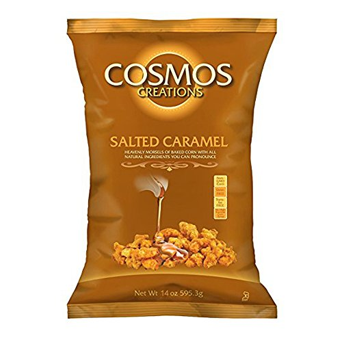Cosmos Creations Salted Caramel Puffed Popcorn, 14oz Bag (Salted Caramel, 1 (Caramel Popcorn Bag)