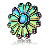 Latest COEO Rainbow Fidget Toys, Hand Spinner Fidget Toys, Anti-Anxiety 360 Spinner, Low Noise and High Speed, Premium Quality EDC Focus Toy for Kids & Adults - Stress Reducer Relieves ADHD Anxiety and Perfect for Killing Time.
