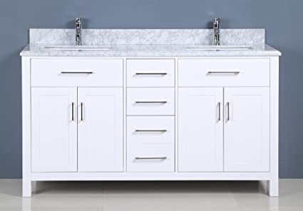 Superb Golden Elite 60 Carrera Bathroom Vanity White Bathroom Interior Design Ideas Pimpapslepicentreinfo