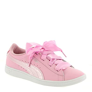 PUMA Vikky Ribbon L Satin Jr Girls  Youth Sneaker 4 M US Big Kid Light 4712d15df