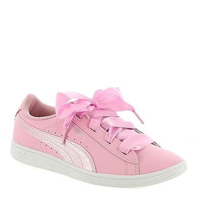 19cbef81f9b25f PUMA Vikky Ribbon L Satin Jr Girls  Youth Sneaker 4 M US Big Kid Light