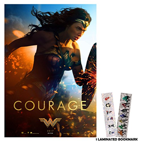 Wonder Woman (2017) - Courage - 13 in x 19 in Movie Poster Flyer Borderless + Free Bookmark