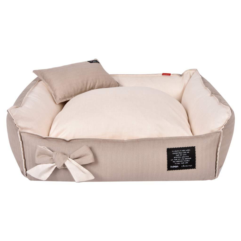 716017cm PLDDY pet Bed Pet Bed,Kennel, Medium-Sized Dog Pet Nest Winter Warm and Bite-Resistant Detachable Dog House Indoor Pet Nest (Size   71  60  17cm)