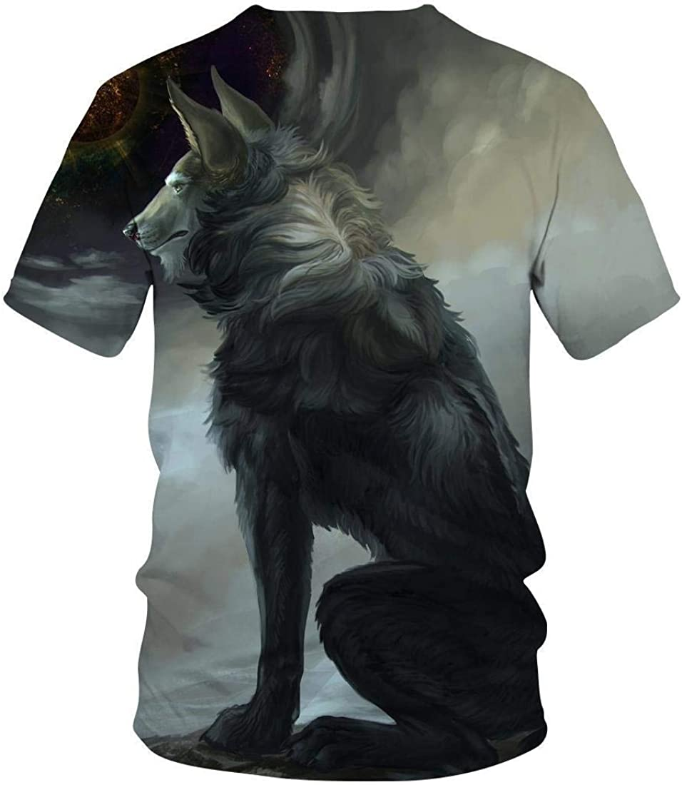 Camiseta con Estampado Digital 3D De Wolf Pack Verano Casual ...