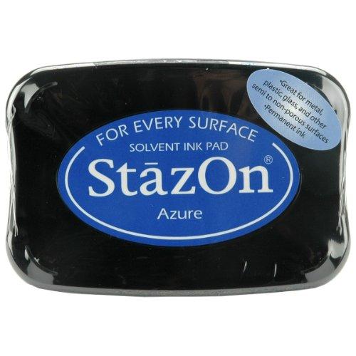 Tsukineko, StazOn, Full Size Ink Pad, Azure