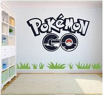 Pokemon Go Wall Art, Wall Sticker Decal, Kids Room, Bedroom Wall Art