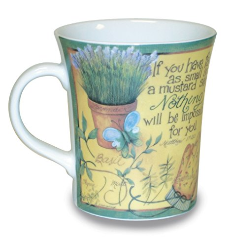 Divinity Boutique Garden Collection Mug Designed by Artist Beth Yarbrough – If You Have Faith, , Multicolor