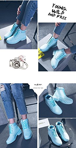 Stivaletti Corti Minetom Boots Stivali Blu Donna Stivaletti Ragazza Autunno Martin Buchi Adulto 6 Moda ZxPx7wU