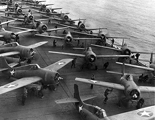 Flight deck of USS Hornet (CV-8) on the morning of 4 June 1942. Aircraft are spotted and ready to (1942 Aircraft)