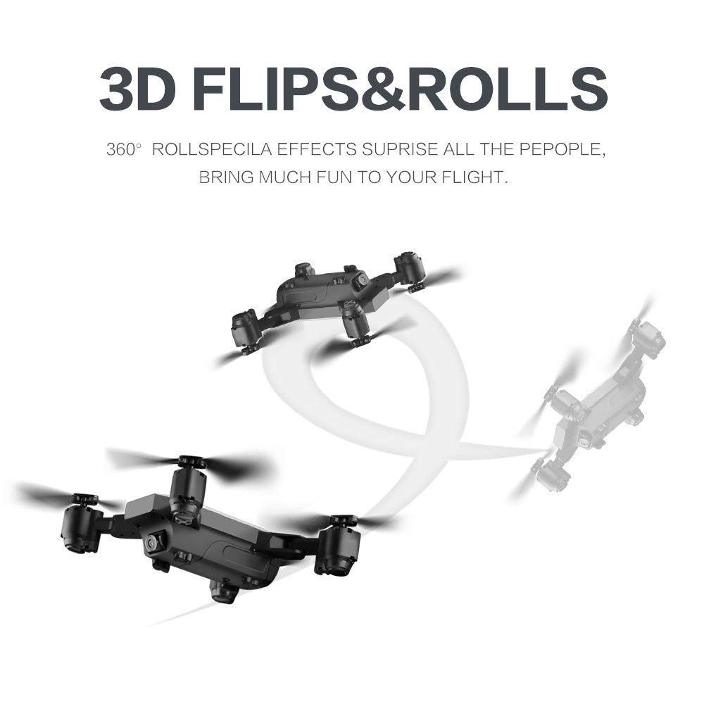 Hot  SMRC S20 RC Quadcopter 2.4GHz 1080P 120°Wide-Angle HD Camera 6-axis Helicopter Foldable Selfie Drone - Headless Mode,One Auto Return Key, Flying Around by Hisoul (Image #5)