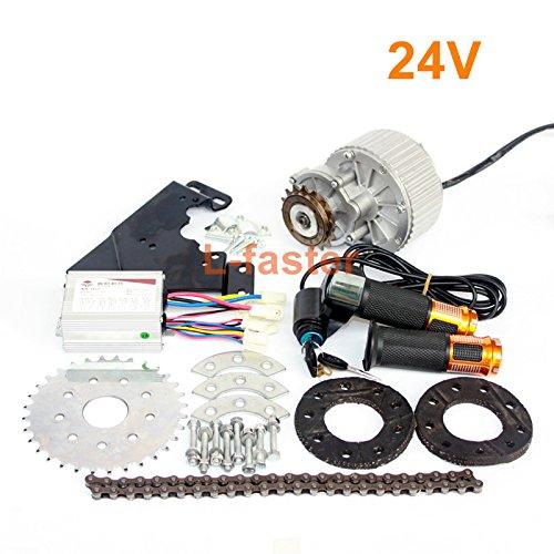450ワット最新電動バイク左ドライブ変換キット最も合うことができる一般的な自転車使用スポークスプロケットチェーン駆動用都市バイク [並行輸入品] B0768PBGPF24V Twist Kit