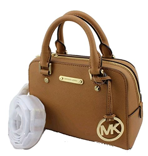 74d90a58648 Michael Kors Jet Set Travel Small Leather Satchel Handbag, Acorn by Michael  Kors