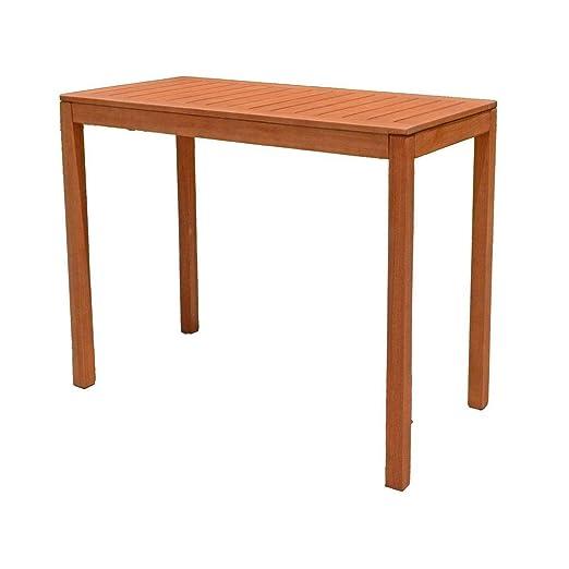 Garde Pleasure mesa de jardín Balcón Jardín Mesa de madera mesa ...
