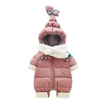 HAIMING-sleeping bag Saco De Dormir Pierna Dividida Mono De Bebe Pijamas De Bebe-Mujer Bebé Onesies con Ropa con Capucha Babero Y Engrosamiento De ...